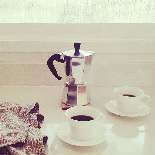 We have a coffee maker like this one. Good for espresso.