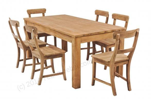 Teak Tisch 160x90cm + 6 Stühle