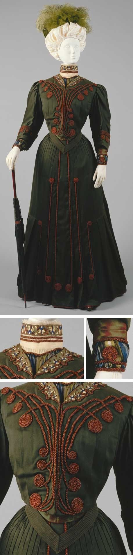 Ensemble, Gustave Beer, France, ca. 1904-05. Wool and silk. Metropolitan Museum of Art