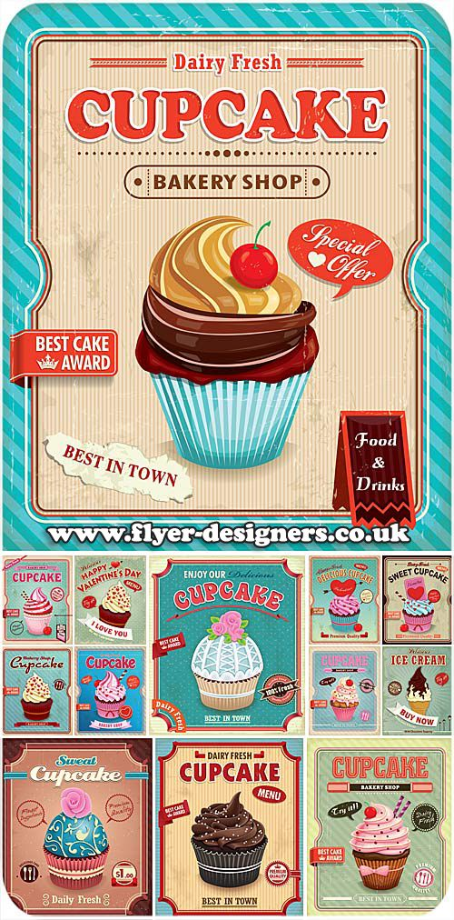 cupcake company flyer design ideas www.flyerdesigners.co
