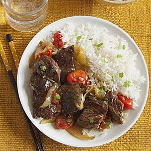 This Thai-inspired beef slow-cooker dish is sure to become a family favorite. Serve coconut-curry beef with jasmine rice topped with fresh chopped cilantro.