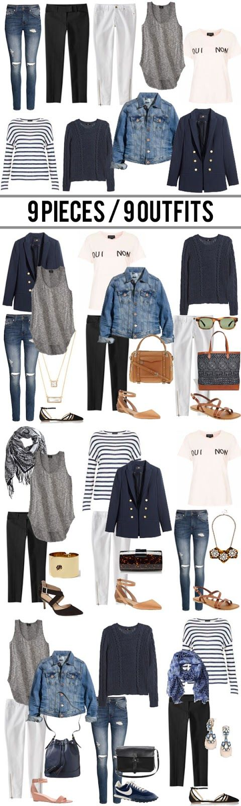 jillgg's good life (for less) | a style blog: 9 pieces / 9 outfits. Great Tip! I'm all about #versatility