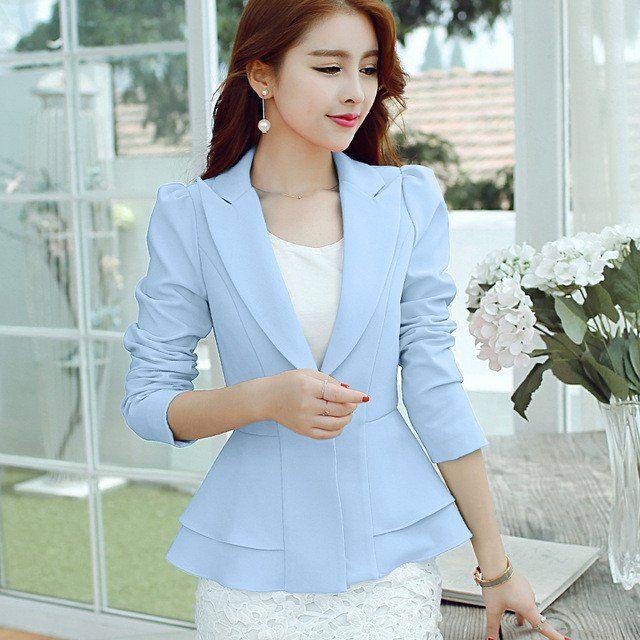 Ladies Blazers 2016 New Fashion Single Button Blazer Women Suit Jacket – Enso Store