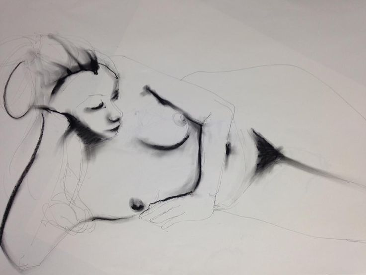 Life drawing at Artsauce. Tuesday evening sessions with Roxy.