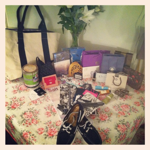Regent Reason 1. My haul from #RegentTweet2012 was just brilliant, I can't quite believe it can be topped. Prove me wrong! (Thanks to all the lovely people we met and the generosity of all the brands involved. Love my Sebago shoes especially!)
