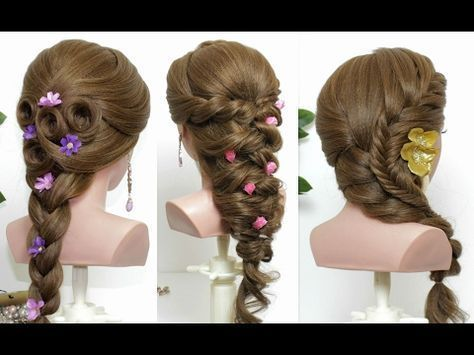 3 Easy Hairstyles For Long Hair Tutorial Cute Quick Youtube