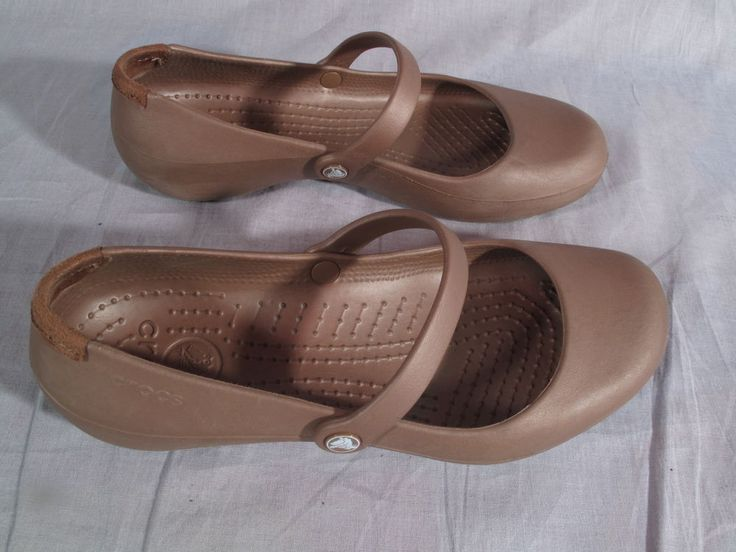 http://www.newtrendsclothing.com/category/crocs/ Women's Crocs Shoes Brown 7 W Slip-on Rubber  #Crocs #Slipon