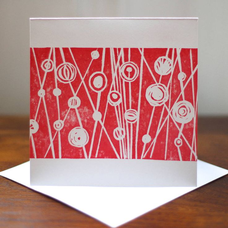 red berries linocut greetings card by a pair of blue eyes | notonthehighstreet.com