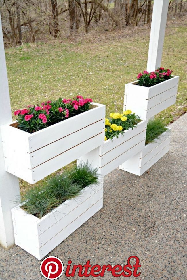 15 Affordable Diy Garden Ideas That Make Your Home Yard Amazing Planting Can Be A Very Fun And Challeng Diy Wooden Planters Wooden Garden Planters Diy Garden