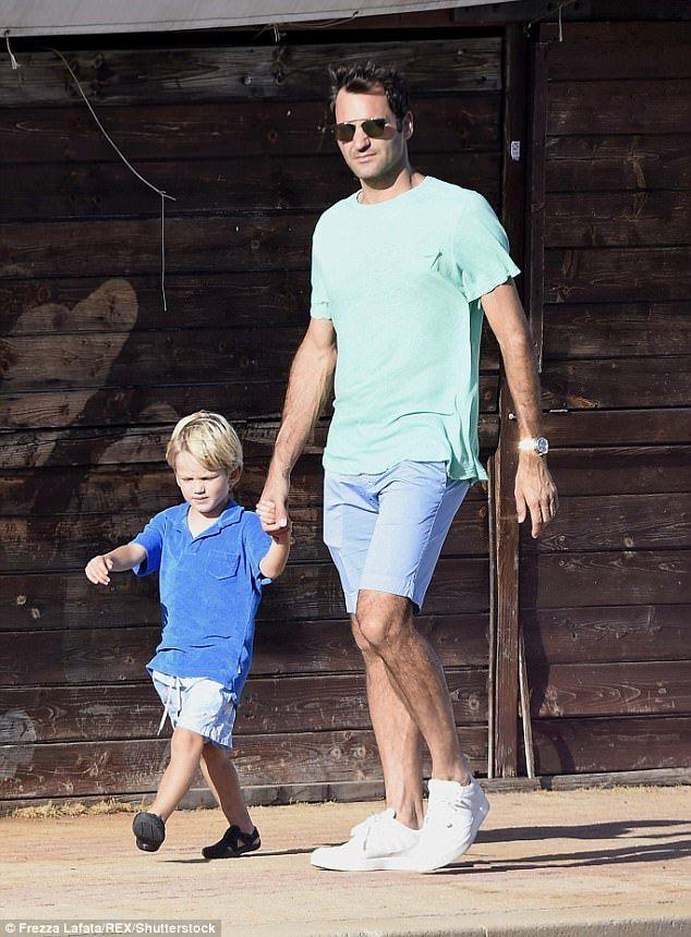Roger Federer passe un temps de qualité avec ses fils!