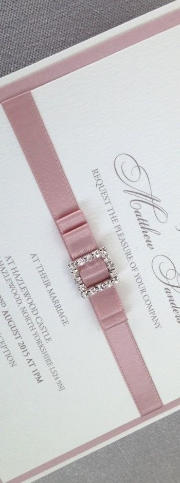 Dusky Pink Wedding Stationery