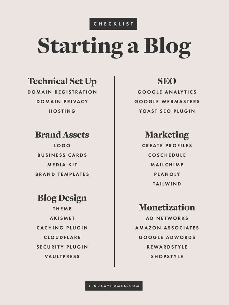 Starting a WordPress Blog Checklist, including the best places to find hosting, social media scheduling, and WordPress themes!