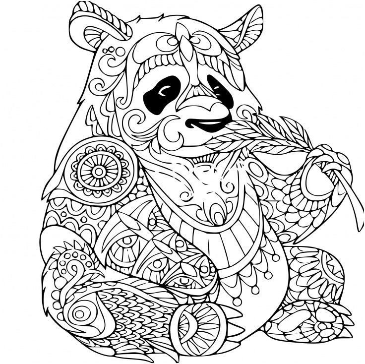 Coloriage Panda Anti Stress A Imprimer Sur Coloriages Fo Mandala Tiere Ausmalbilder Panda Malvorlagen Tiere