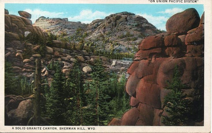 1935 Union Pacific Railroad Sherman Hill Wyoming Vintage Postcard