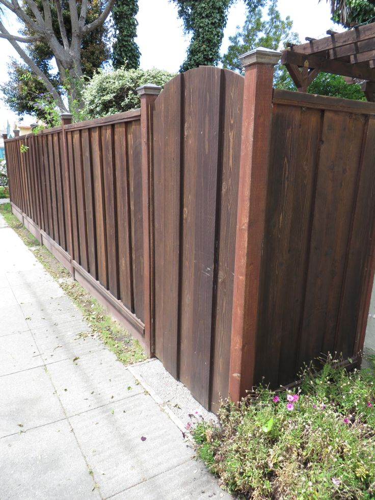 46 best fence designs images on pinterest backyard patio for Craftsman style fence