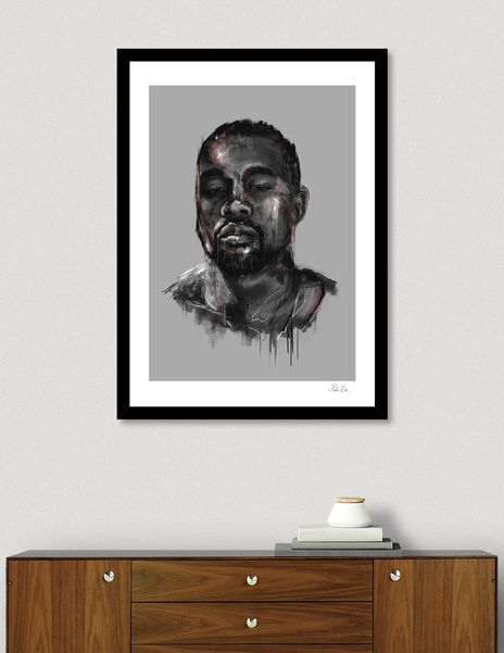 Discover «Kanye West», Limited Edition Fine Art Print by tHx - From $29 - Curioos