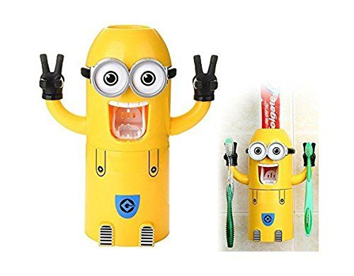 The Minions Toothpaste Dispenser Suit Hanging Toothbrush Suit Wash Gargle Cup (Two Eyes) @ niftywarehouse.com