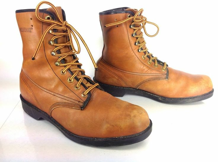 Men's Vintage Chippewa L.L. Bean Brown leather Work Boots Sz 10 D ...