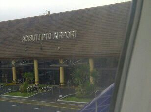 Adistjipto airport, a view from  airplane window