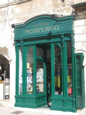 Morpurgo-said to be the oldest book store in the world-opened 150 years ago in Split Croatia by a Jewish Immigrant