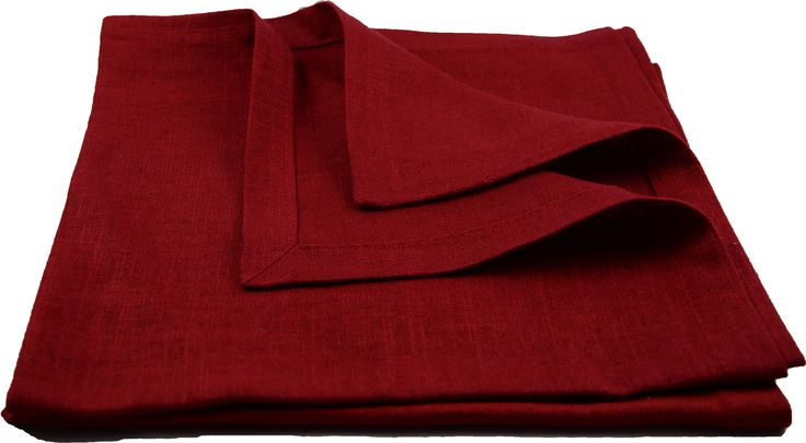 Red Christmas napkins in linnen from E&L by LUNDQVIST.
