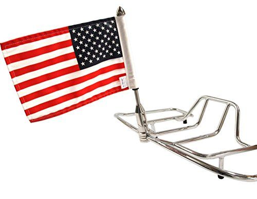 """Pro Pad RFM-FLD Rear Fold Motorcycle Flag Mount Kit with 6"""" x 9"""" USA Flag, Fits 1/2"""" Round Luggage Rack, Stainless Steel, Made in the USA > Push-button-to-fold flag mount This set includes: base, 9"""" pole, standard cone topper and 6"""" x 9"""" USA Flag Includes allen keys for easy installation Check more at http://farmgardensuperstore.com/product/pro-pad-rfm-fld-rear-fold-motorcycle-flag-mount-kit-with-6-x-9-usa-flag-fits-12-round-luggage-rack-stainless-steel-made-in-the-usa/"""