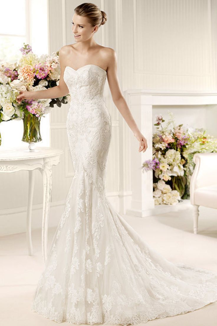 2013 Wedding Dresses Trumpet/Mermaid Sweetheart Court Train Lace USD 278.29 LDPKYPY7AM - LovingDresses.com