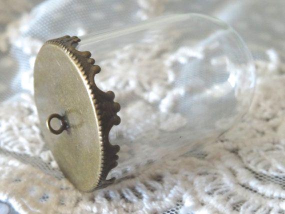 1-cloche Terrarium pendentif verre festonné filigrane par BuyDiy