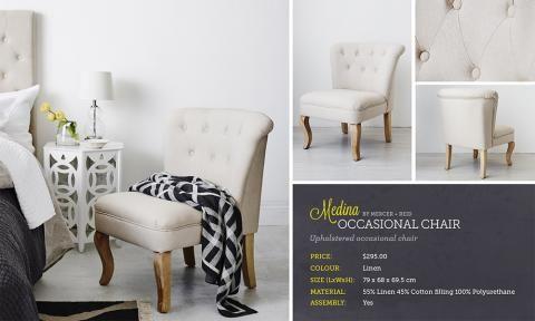 Lookbook | Adairs - option for chair in master bedroom