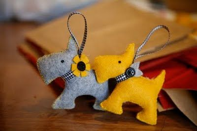 Cute Scottie Dog Ornaments I want to make out of paper!