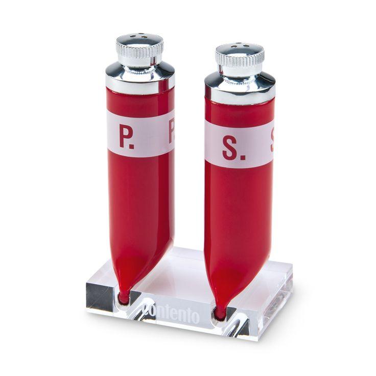 Salz- und Pfefferstreuer P.S. 8 x 5,1 x 12,5 cm rot 2er-Set