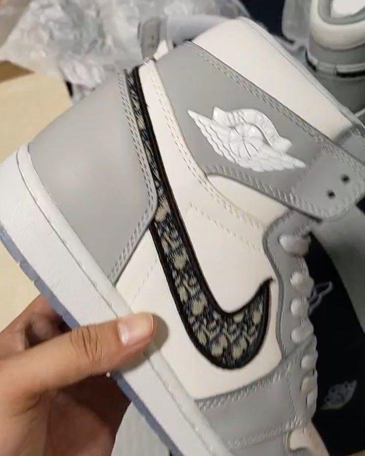 Dior air Jordan 1s Price : $1500 Sizes