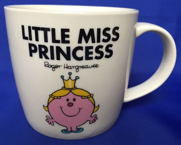 Little Miss Princess Mug Practically Coffee Cup Ceramic Roger Hargreaves Mr Men #WildWolf