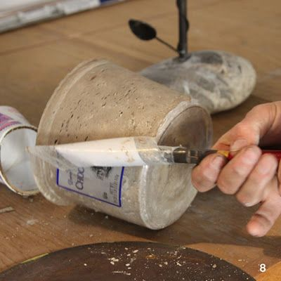 DIY : des pots so déco en ciment...