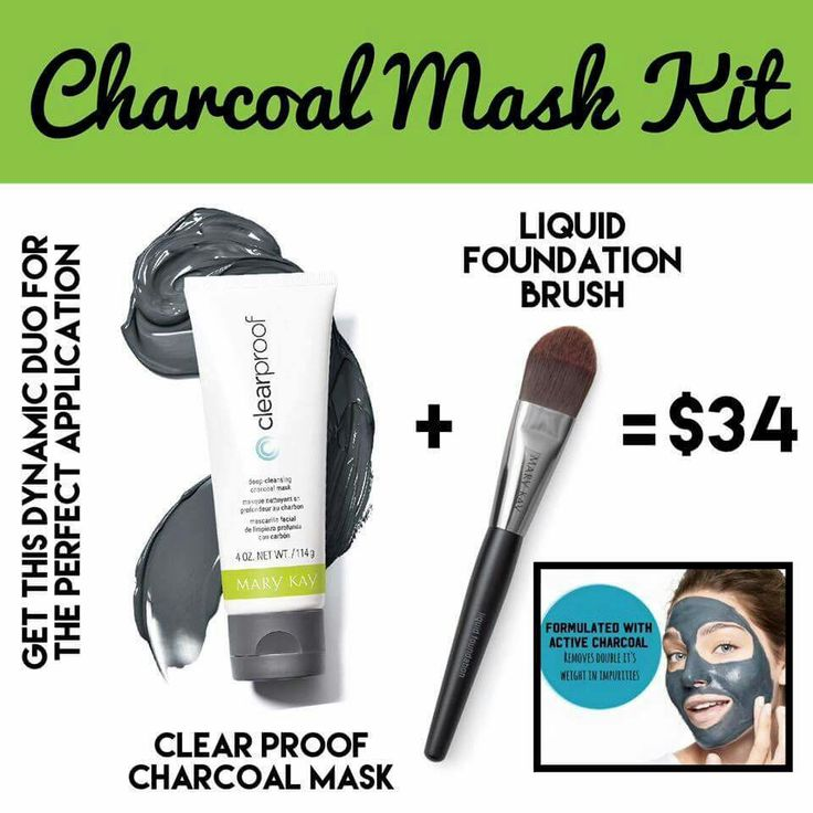 New Charcoal mask & Liquid Foundation Brush Special want yours 705-498-1449 www.marykay.ca/manongoulet