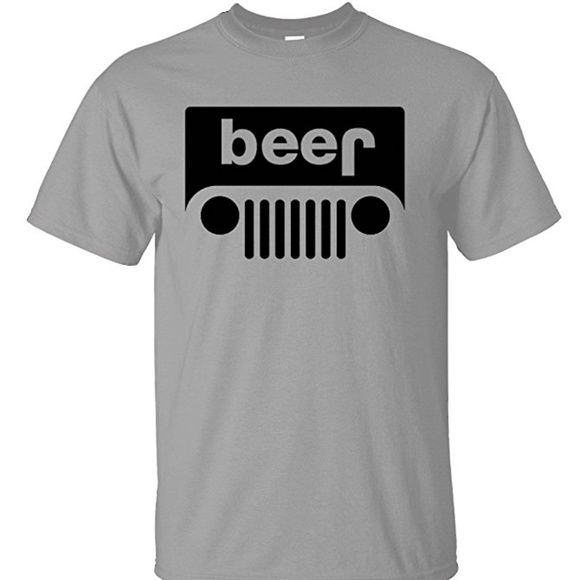 Beer Jeep Grey Men S T Shirt In 2020 Mens Tshirts Jeep Shirts Online Mens Clothing
