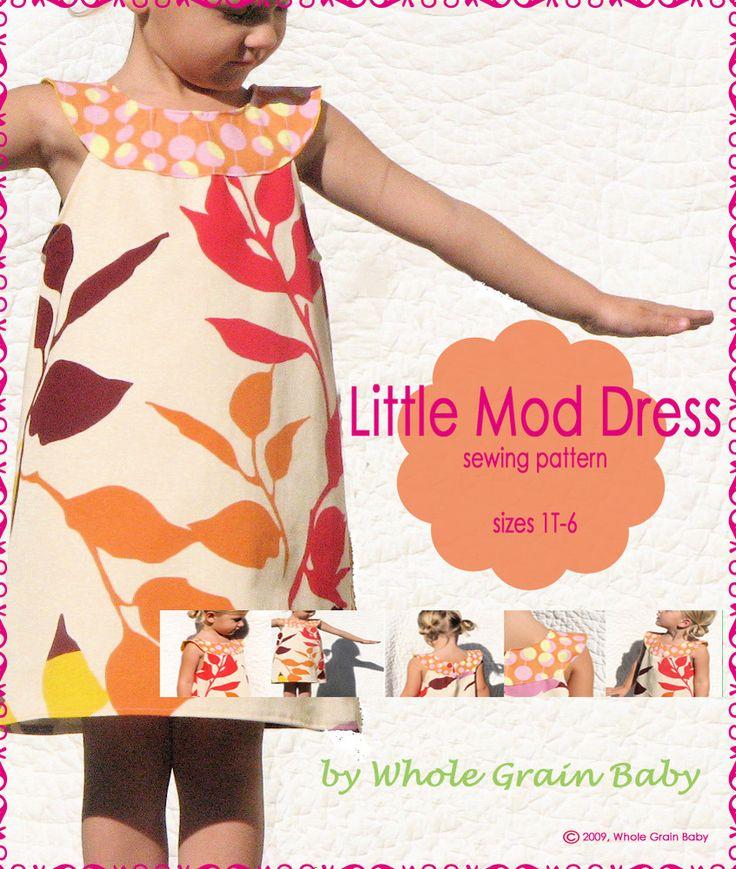 Whole Grain Baby — The Little Mod Dress sewing pattern