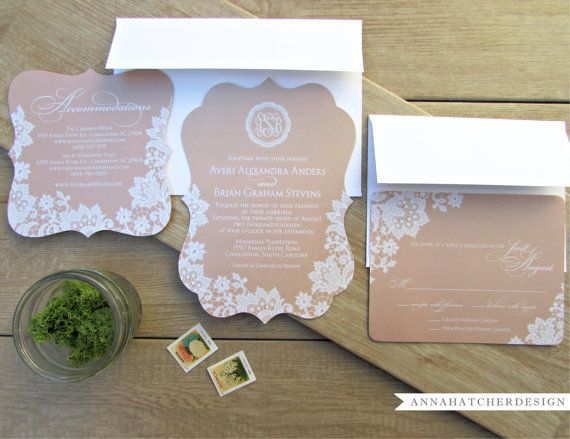 3 Piece Ornate Wedding Suite Sample / Invitation, Reply Card and Ornate Enclosure Card / Sample Paper Pack and Color Chart - FREE SHIPPING