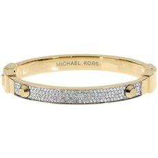 Michael Kors Gold-Tone Crystal Pave Astor Stud Bangle Bracelet