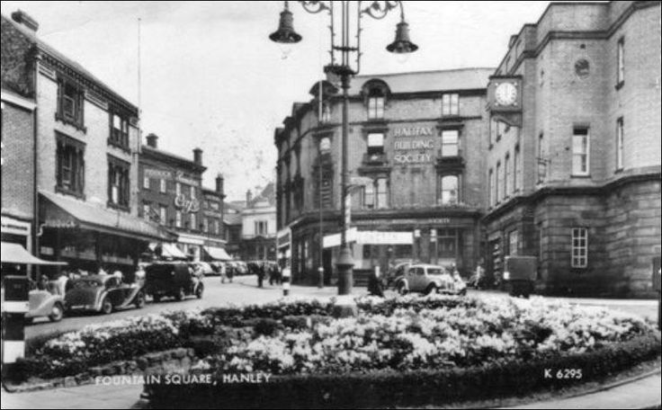 Fountain Square Hanley about 1920- 1940.   Memories ...