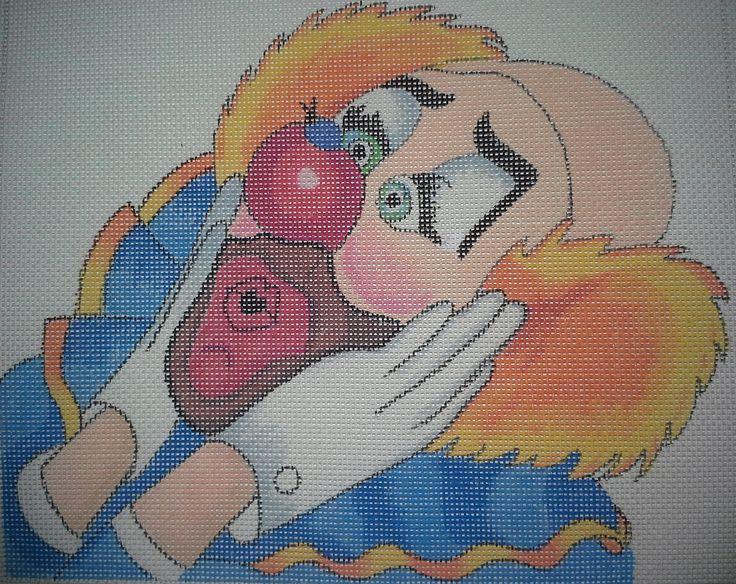 Sasi Creations Inc. Oh My! 2210 3 Clown Needlepoint Canvas