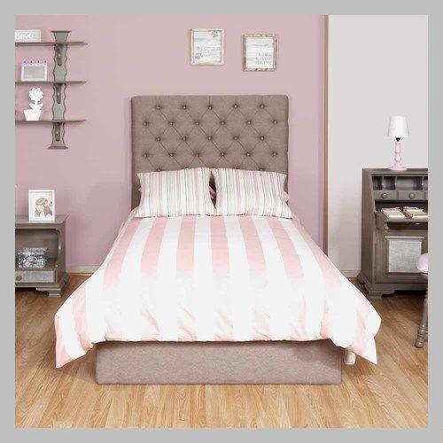 Cama con espaldar tapizado cm 10 100 cama con dise o for Cama minimalista