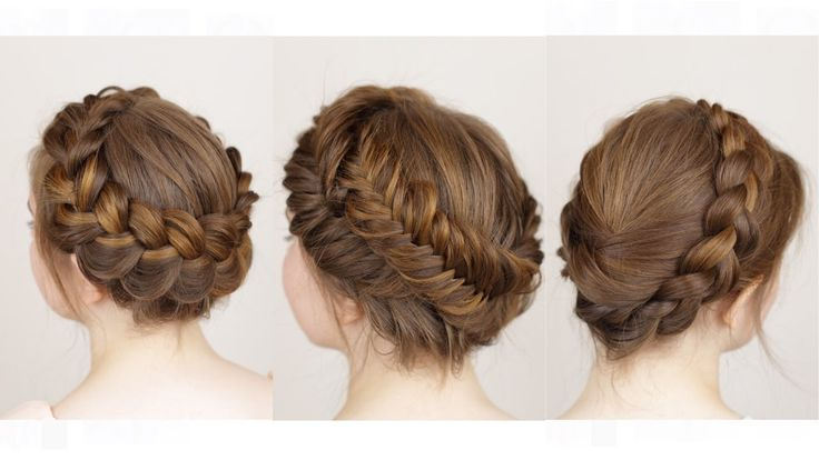 In this tutorial we show you how to create three different crown/halo braids: a dutch crown braid, a double fishtail crown braid and a milk maid braid! Which...
