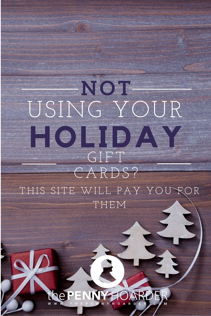 Don't be bummed that you got a gift card to a store you don't actually like. You can turn it into extra money in your pocket! This site will help you sell gift cards for cash. - The Penny Hoarder http://www.thepennyhoarder.com/sell-gift-cards/
