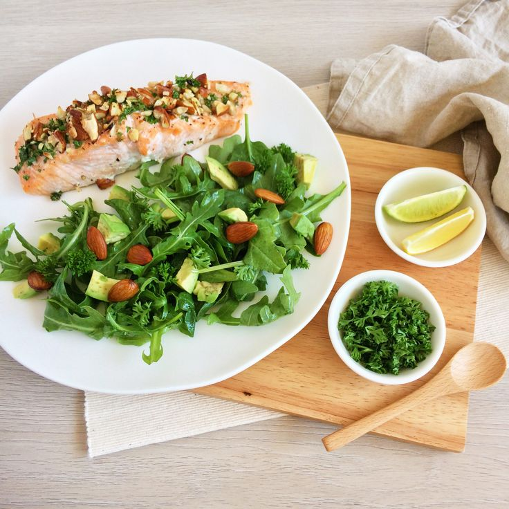 GRILLED SALMON & SALAD (Full recipe on my Facebook page... Kathryn Chandler)