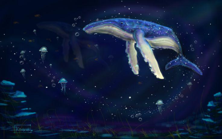 need to dream again #whale #dream #galaxy #stars #ocean