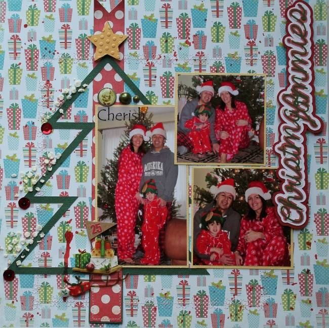 Christmas jammies  by Danie ScrapMuch? DT REVEAL - Team A December 12th, 2014