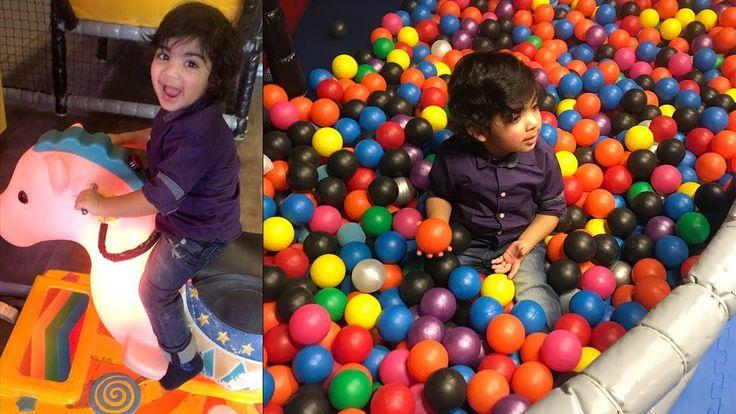 Toddler having fun at MegaFun indoor playground for kids in Norway