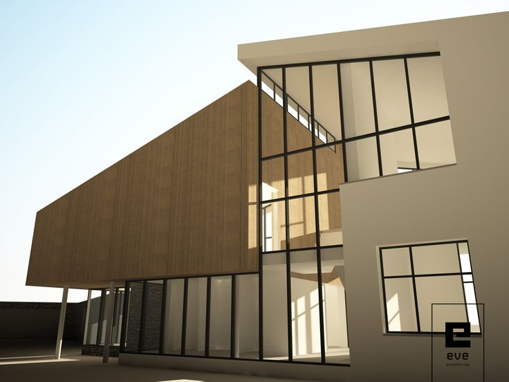 inspiratie schets moderne villa_EVE Architecten