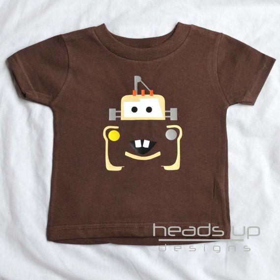 Mater Shirt Toddler  Cars Mater tshirt Toddler by headsupdesigns, $14.95